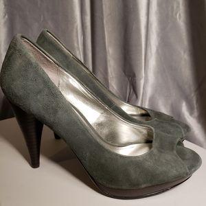Suede Peep Toe Heels - Like New - SIZE 6M